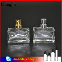 New shaped beauty 22ml glass perfume bottle with mini spray cap in stock