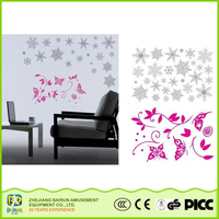 Bairun Self-Adhesive Merry Christmas Snowflake And Butterfly Wall Sticker