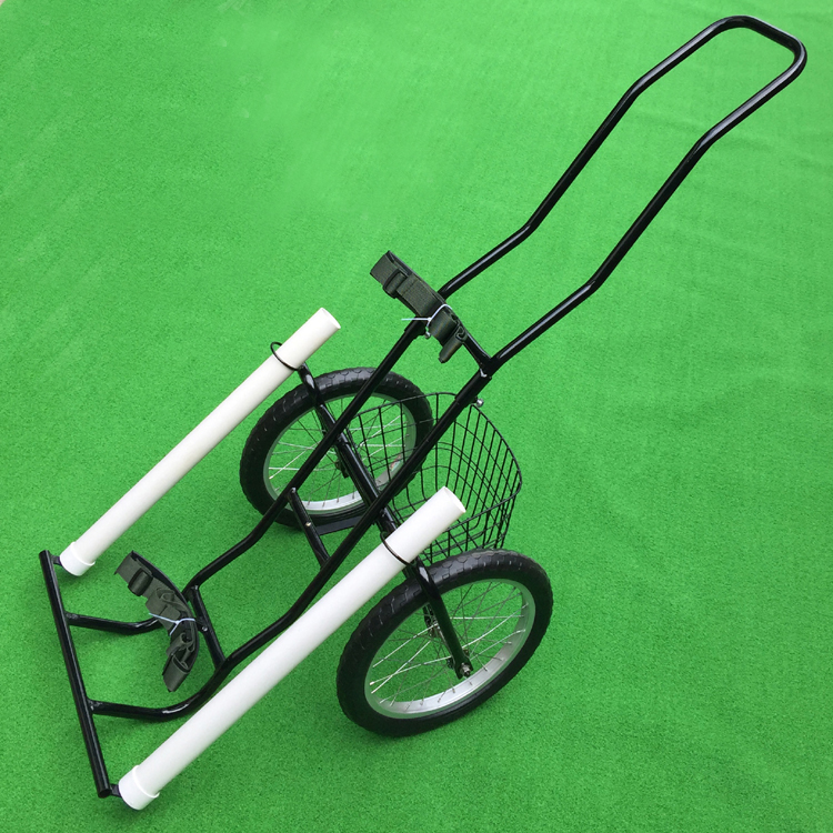 double golf bag Metal Adjustable Push Golf Trolley 2 wheel Very convenient