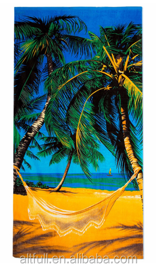 Personalized Quick Dry Absorbent Microfiber Fabric Digital Printed Beach Towel