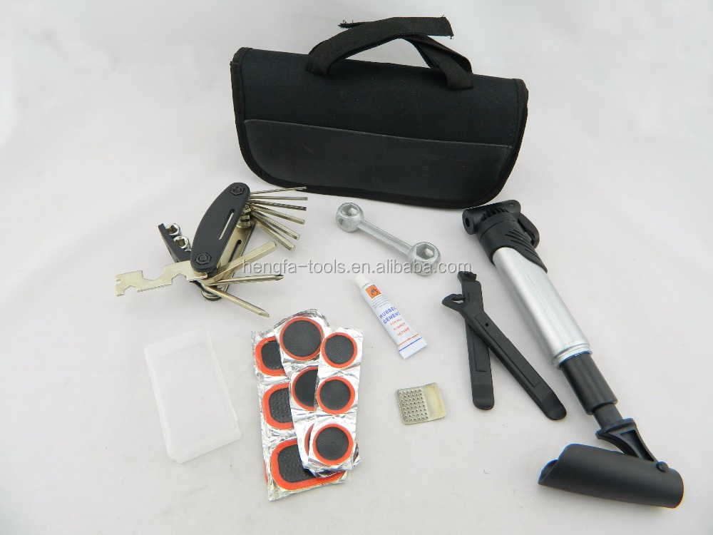 16-in-1 Portable bicycle repair tool set tire repair kit
