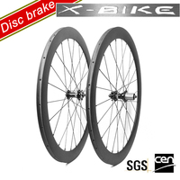 XBIKE china carbon road bike 50mm disc brake finish 3k matte wheels