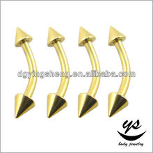 Banana curved eyebrow ring Cone 14g eyebrow rings