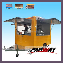China Mobile Fryer Food Cart Trailer For Snack and Food