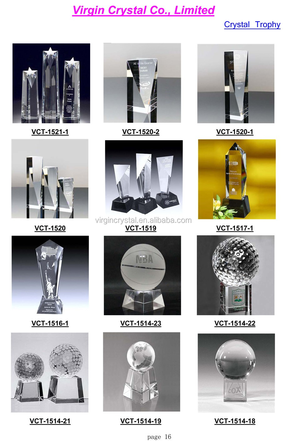 Wholesale Crystal star trophy and awards