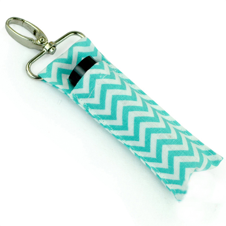 Chapstick Key Chain Holder,2 Pack Lip Balm Holder in Chevron Colors