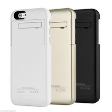Wholesale 4800mah Power Bank Stand Charging Smart external backup Battery phone Case Cover for iPhone 6 Plus with Kickstand