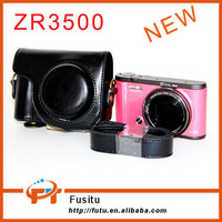2015 New Product Portable Bag Leather Dgital Camera Bag Case for Casio EX-ZR3500 with Shoulder Strap