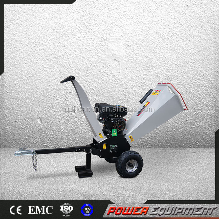 Home using new design and widely used new professional gas engine log shredder chipper