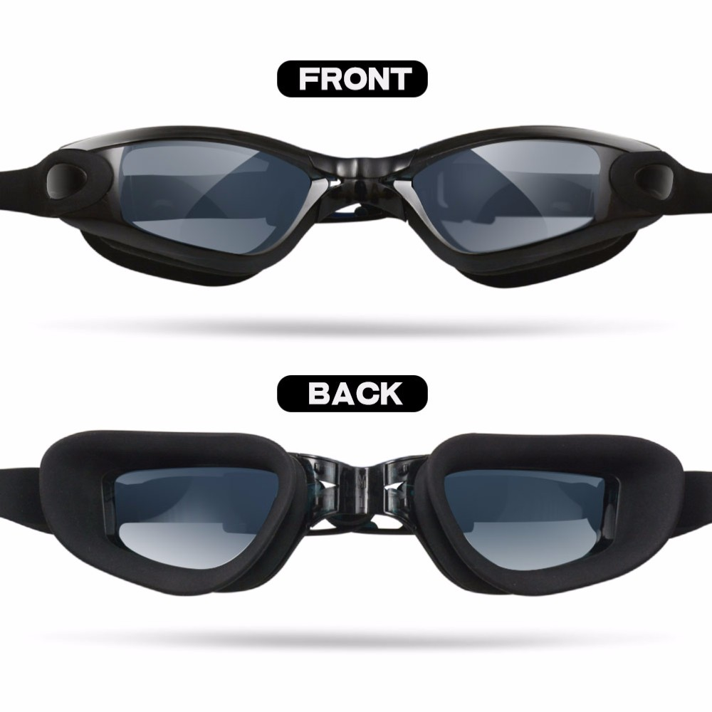 Racing Swim Goggles with UV Protective Anti-fogging Adjustable Strap Fast Release Buckle Extra Detachable Nose Pieces