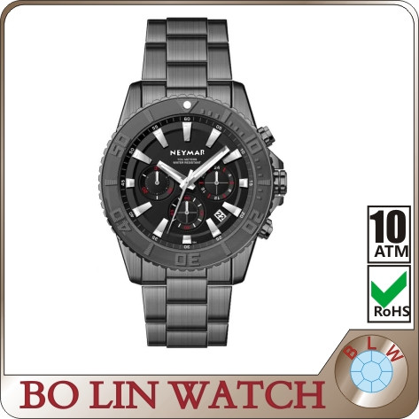 2017 sports unique watch, solid stainless steel bracelet watch, expensive branded watch men