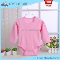 180g 100% cotton long sleeves baby rompers
