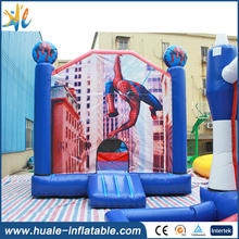 Amusing popular spiderman inflatable bounce house for kids