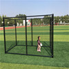 Modular Welded Wire Dog Kennels Kit Black Color
