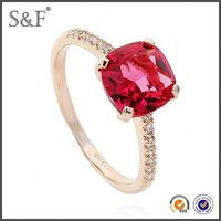 YIWU FACTORY!! Newest Style Crystal gold plated silver rings