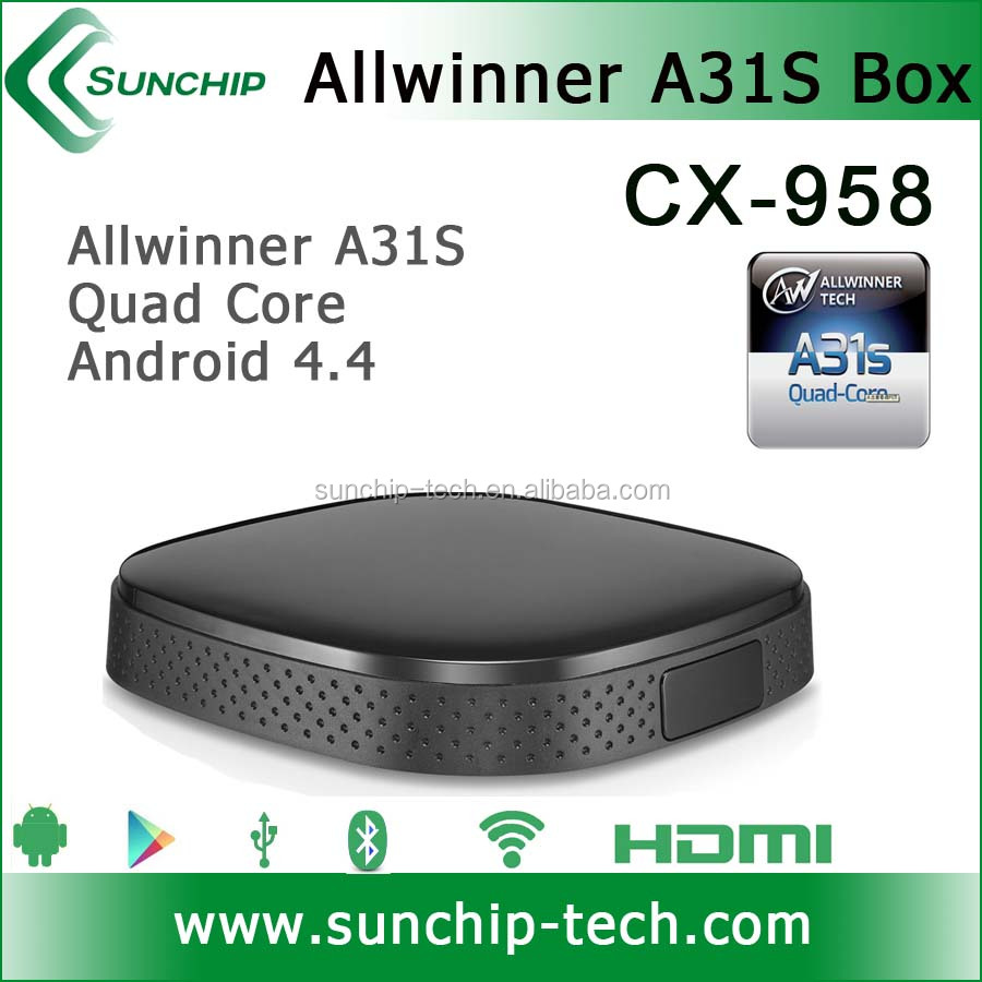 Hot selling! Android 4.4 mini pc allwinner A31S quad core 1G/8G Smart tv box