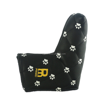 Welcome fashion embroidery magnetic custom Golf putter covers