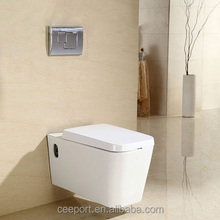 European style square wall hanging wc toilet cheap wall hang toilet with slow close seat coverLJ-A03