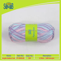 Oeko-Tex bulk buy novelty tube yarn from china, 100% acrylic machine knitting hollow yarn
