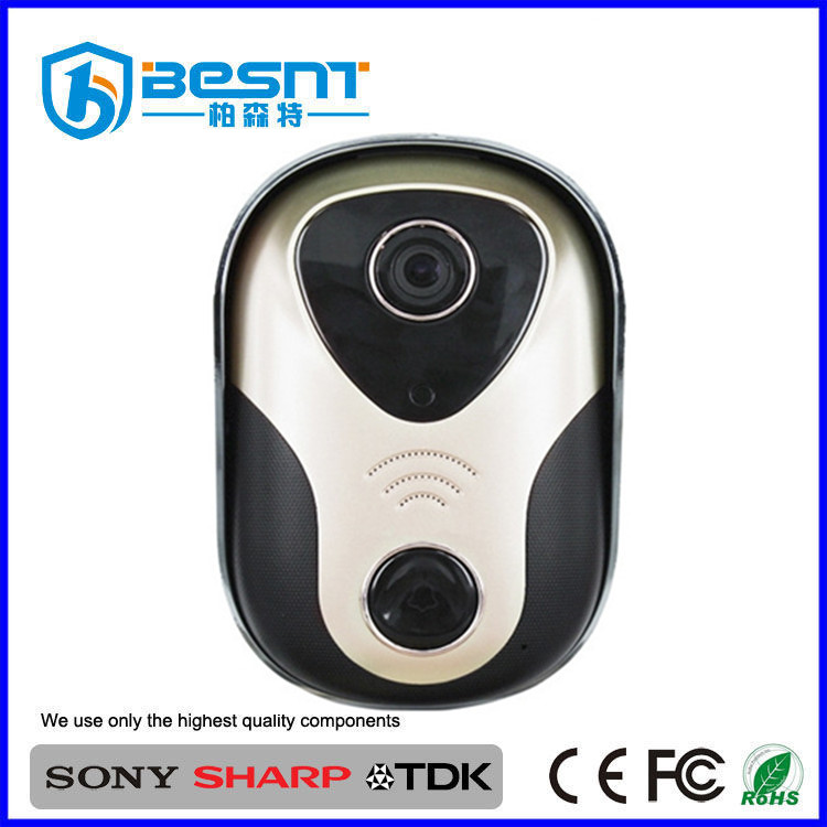 USA market unlock door audio vedio HD 1MP onvif wifi ip doorbell camera supports multi-user BS-M08W