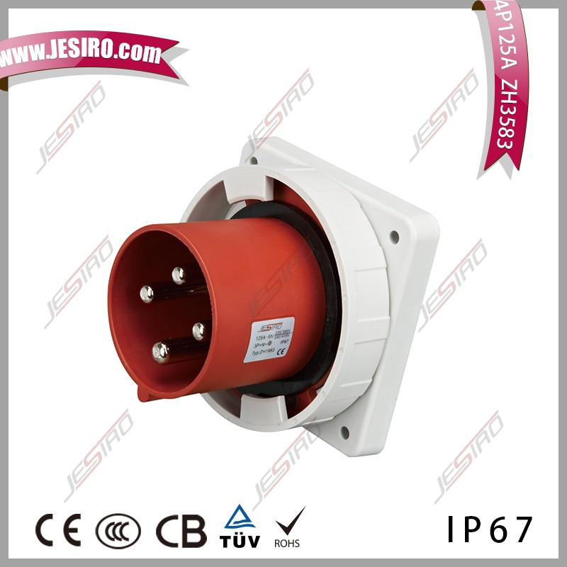 JESIRO Factory direct sale 4P 125A waterproof MENNEKES Type industrial plug