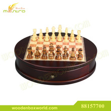 Chess High Quality Round Wooden Chessmen Set