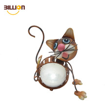 Cartoon Cat Solar Garden Lighting Pole Light For Decoration