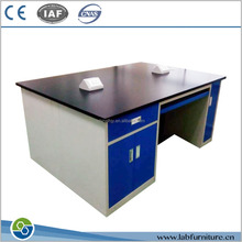 Steel lab furniture work bench epoxy resin lab bench top lab bench with reagent shelf