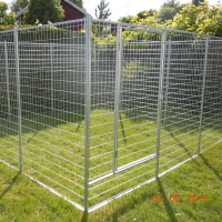 Hot Dipped Galvanized 1.8x1.2m Dog Kennel