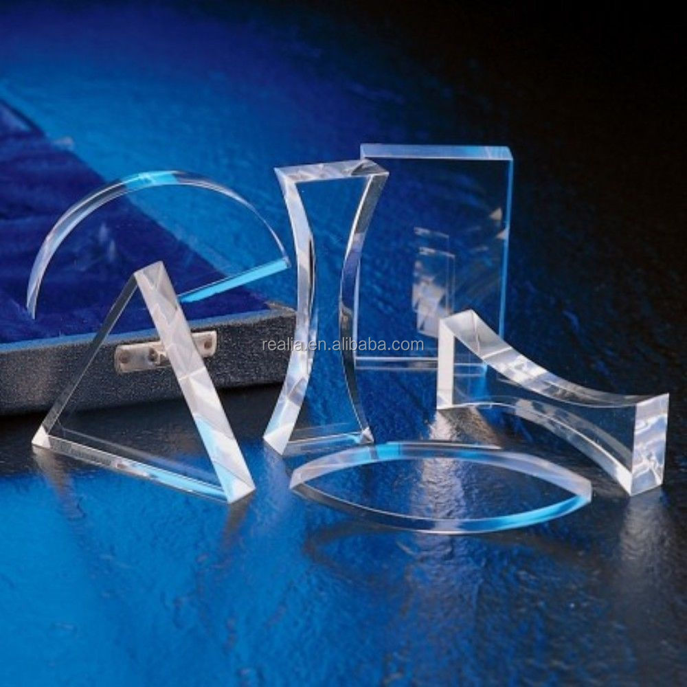 Acrylic Lens & Prisms Set , Set of 6 Acrylic Prisms for Optical Experiments