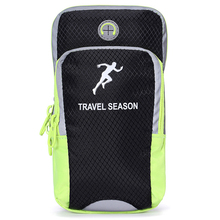 "Double Pockets Men Women Outdoor Bicycling Sport Smart Arm Phone Pouch Arm Band Bag Fit for 4"" - 6"" Phone"