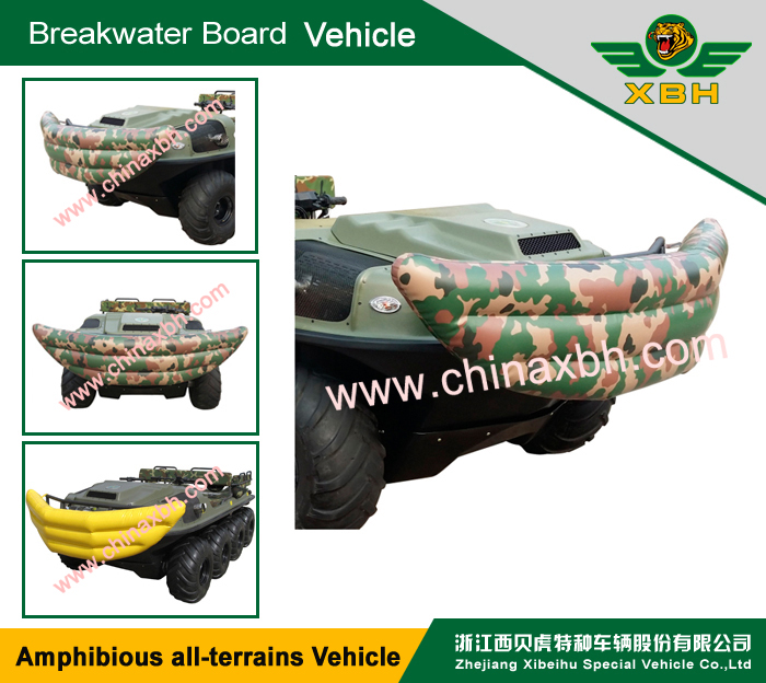 XBH 8X8-2A Jet propelled vehicle Floating water 4 Stroke vehicle Crossing river car