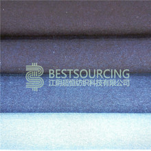 Yarn Dyed Stocklot rib knitted denim fabric indigo rib