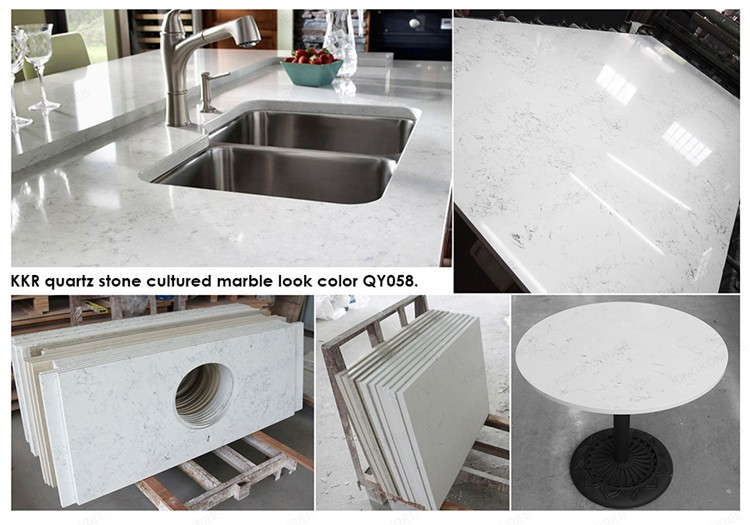 Starlight White Milky Mirror Quartz Stone Floor Tile
