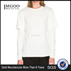 MGOO Customized Design Long Sleeve Tees 100% Cotton Sport Clothes White Plain t-shirts For Men