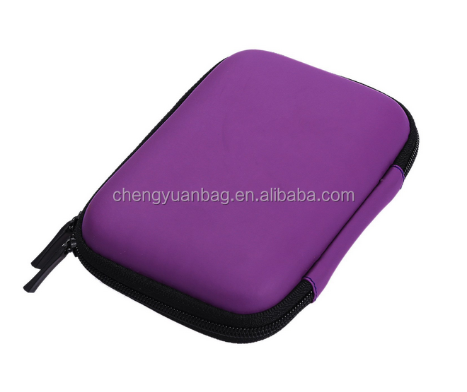 Purple Eva Pouch Case + USB Memory Card Reader with Zipper