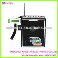 NS-018u mini portable micro sd card speaker,fm receiver