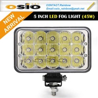 5 inch Square 15LEDs High power 45W 8V-36V High power LED head light