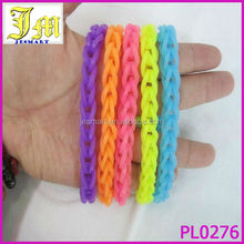 2014 Popular Loom Bands Bracelet Making Kit Hook 600 Rainbow Rubber 24 Clips Diy Tool