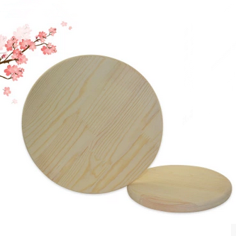 Round Wooden Cutting Pizza Plate Wooden Serving Bread Board