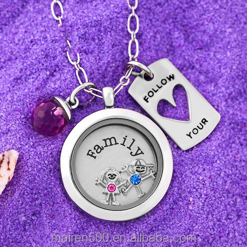 girl birthstone floating charm (Juanuary)