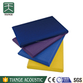 Interior decorative fabric ceiling panel with eliminate noise function