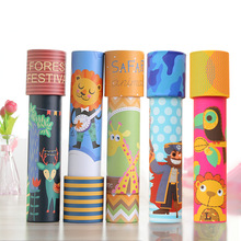 Wholesale custom mini kids educational visual toys outdoor paper kaleidoscope of sale