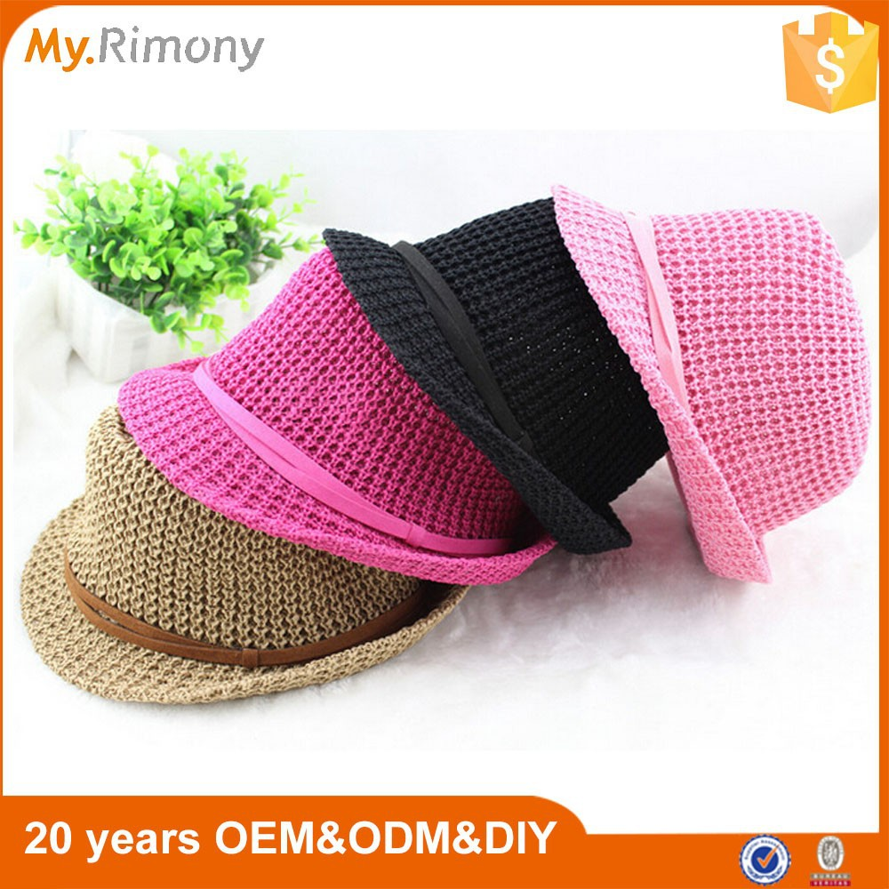 Women plain bucket caps and hats wholesale fashion knitting hat cap