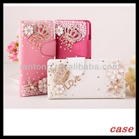 Luxuary Bling Diamond Rhinestone Wallet Leather Case for iPhone5