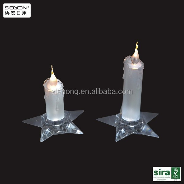 Acrylic led taper candle, led artificial candle light