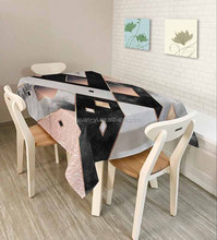 Digital printing table cloth flex cloth clearnable custom printed table cover