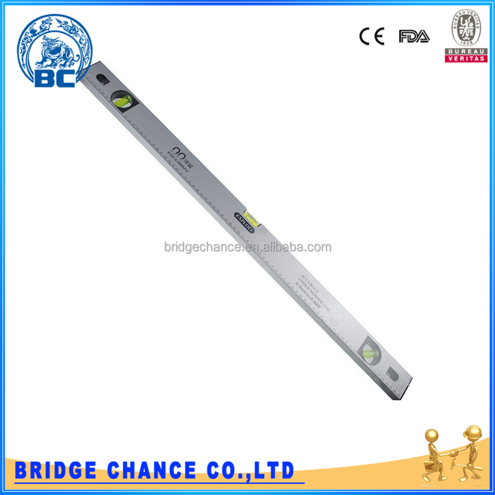 800 mm Aluminum Alloy Measuring Tools 3 Bubbles Spirit Level With High Accuracy