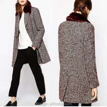OEM wholesale Custom made pictures of winter clothes for women overcoat winter warm popular wear outer