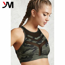 Custom Design 2018 Fashionable Wholesale Blank Plain Women's Sexy Yoga Gym Sport Nylon Spandex high impact supportive Bra